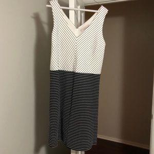 Two-toned stripe dress